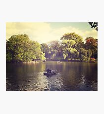 Central Park Row Boats Photographic Print