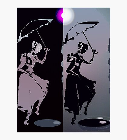 girls with umbrellas Photographic Print