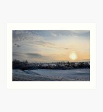 Snowy scene. Art Print