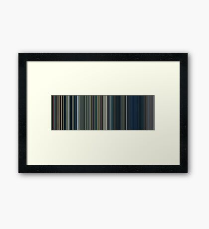 Moviebarcode: The Lord of the Rings: The Two Towers (2002) [Simplified Colors] Framed Print