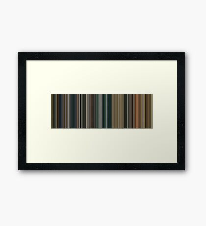 Moviebarcode: The Lord of the Rings: The Return of the King (2003) [Simplified Colors] Framed Print