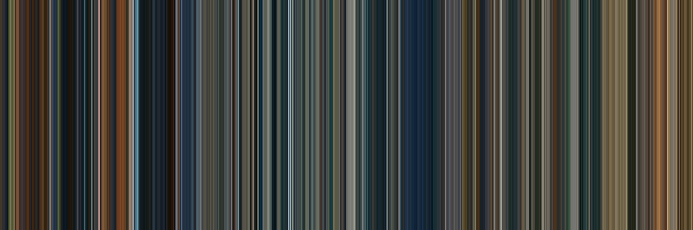Moviebarcode: The Lord of the Rings Trilogy (2001-2003) [Simplified Colors] by moviebarcode