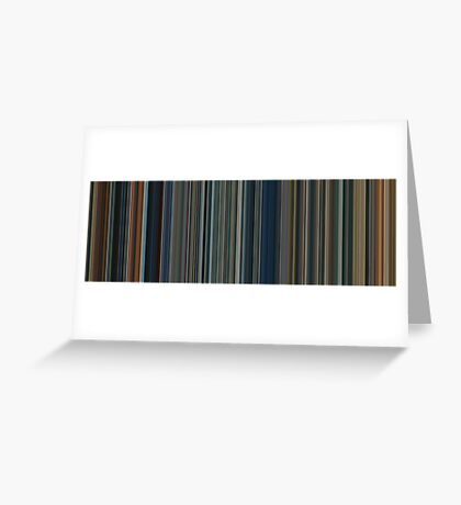 Moviebarcode: The Lord of the Rings Trilogy (2001-2003) [Simplified Colors] Greeting Card