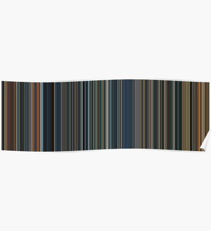 Moviebarcode: The Lord of the Rings Trilogy (2001-2003) [Simplified Colors] Poster