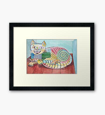 Picasso Cat Framed Print
