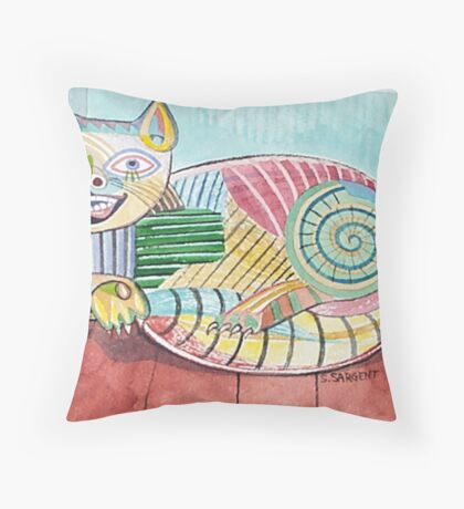 Picasso Cat Throw Pillow