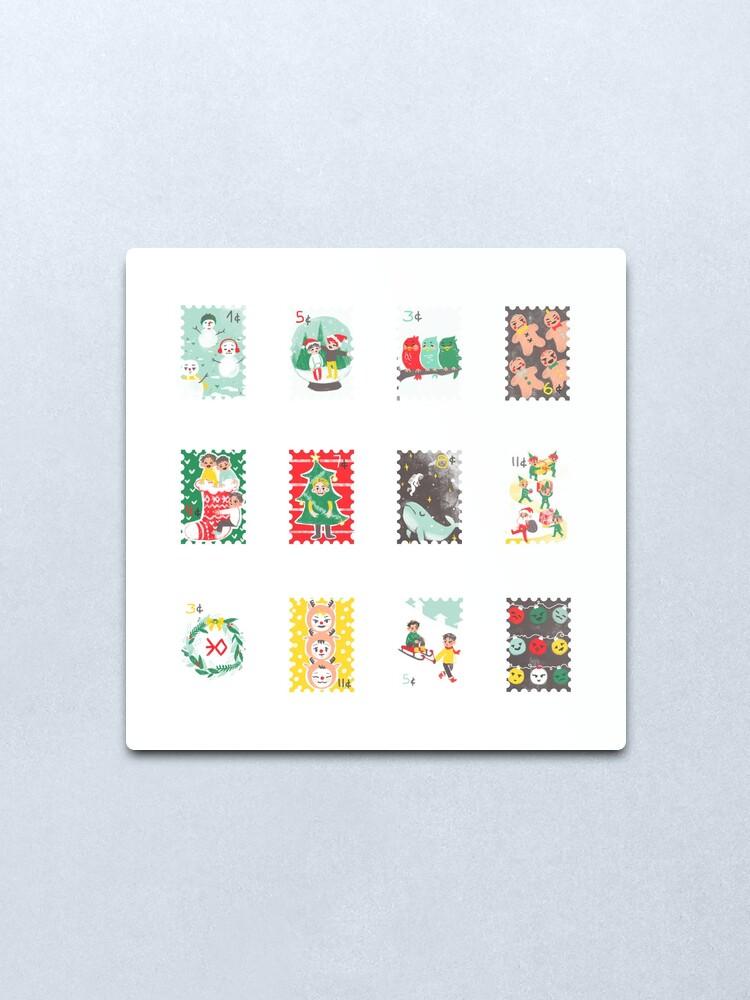 Vista alternativa de Lámina metálica Exo sellos de navidad
