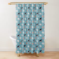 Dance of the Manta ray Shower Curtain