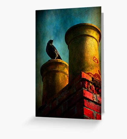 Red Chimney Greeting Card