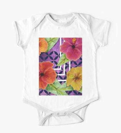 Hibiscus in Denim Kids Clothes