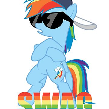 Rainbow Dash has ALL the SWAG by Spritesup