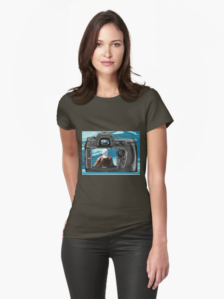 Look to the camera.......... Womens T-Shirt Front