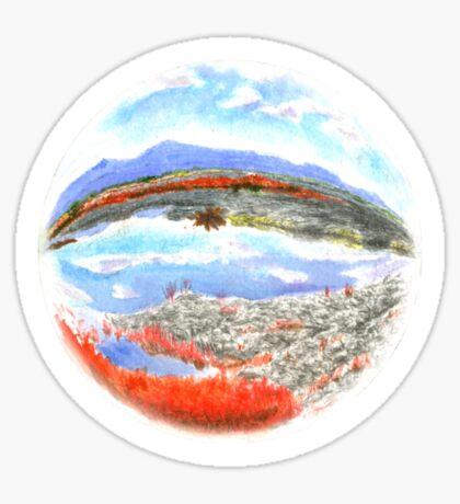 Landscape in a Ball Sticker