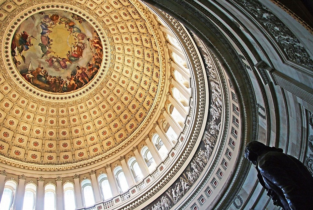 Rotunda of the United States Capitol by Cora Wandel