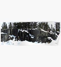 Rock Panel - Pukaskwa National Park - Heron Bay Ontario Canada Poster