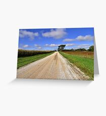 Back Country Road  Greeting Card