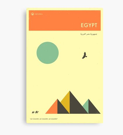 VISIT EGYPT Canvas Print
