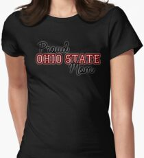 Proud Ohio State Mom for Dark backgrounds Womens Fitted T-Shirt