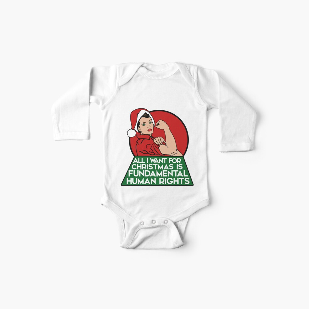Feminist christmas humor Baby One-Pieces
