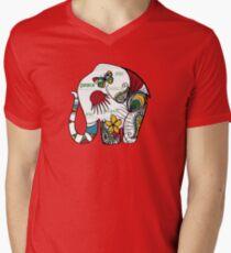 Peace Elephant Mens V-Neck T-Shirt