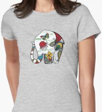 Peace Elephant Womens Fitted T-Shirt