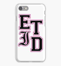 Varsity Letters (Black in Pink) iPhone Case/Skin