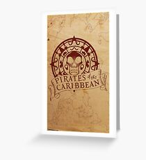 Pirates of the Caribbean Medallion 2 Greeting Card