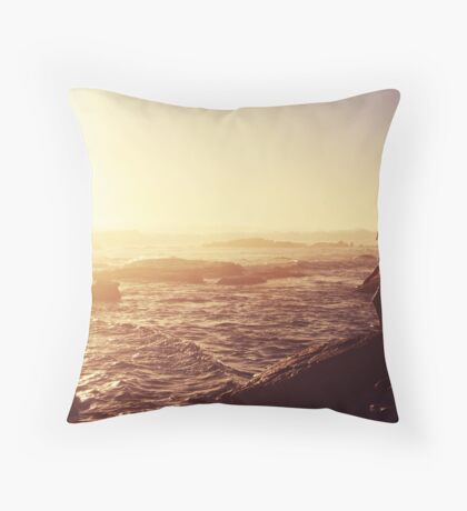 today was a pretty day Throw Pillow