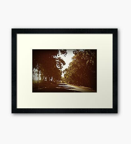 when the truth is, i miss you... Framed Print