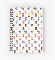 Pixel Crossing Spiral Notebook