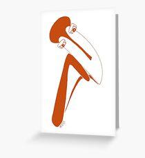 Penseur Greeting Card