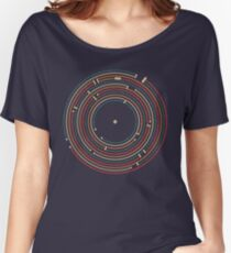 Vinyl music metro record map labyrinth  Women's Relaxed Fit T-Shirt