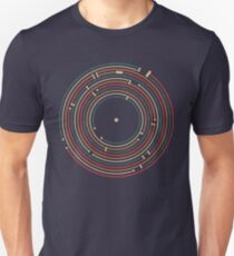 Vinyl music metro record map labyrinth  Unisex T-Shirt