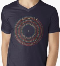Vinyl music metro record map labyrinth  Men's V-Neck T-Shirt