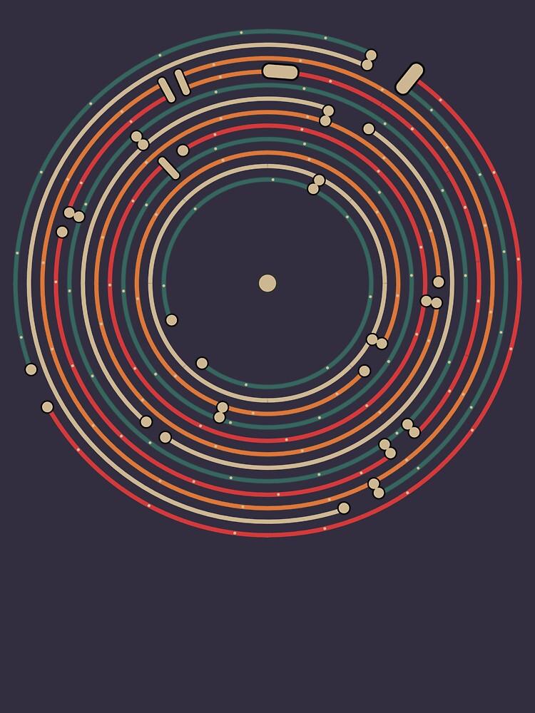 Expediente de vinilo de música mapa del metro laberinto de masatomio