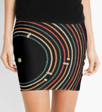 Vinyl music metro record map labyrinth  Mini Skirt