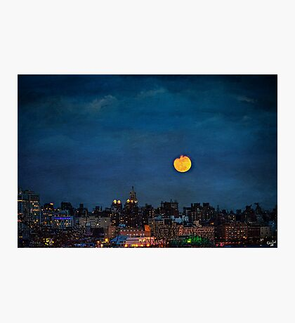 Manhattan Moonrise Photographic Print