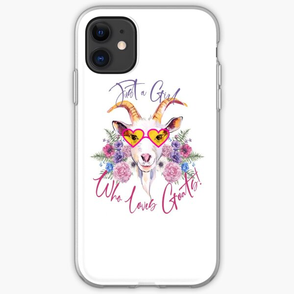 Just a Girl Who Loves Goats  iPhone Soft Case