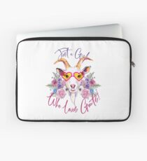 Just a Girl Who Loves Goats  Laptop Sleeve