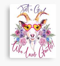 Just a Girl Who Loves Goats  Canvas Print