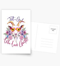 Just a Girl Who Loves Goats  Postcards