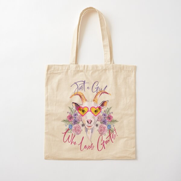 Just a Girl Who Loves Goats  Cotton Tote Bag