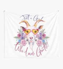 Just a Girl Who Loves Goats  Wall Tapestry