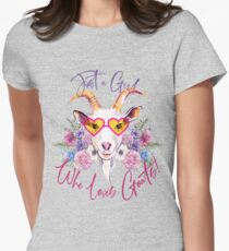 Just a Girl Who Loves Goats  Fitted T-Shirt