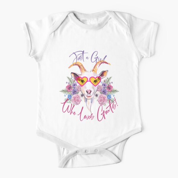 Just a Girl Who Loves Goats  Short Sleeve Baby One-Piece