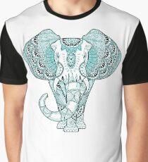 Turquoise Elephant Graphic T-Shirt