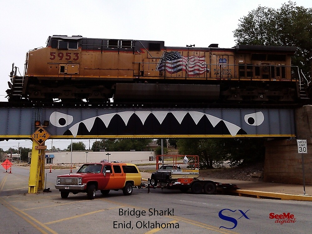 Bridge Shark West with Train, Enid by SeeMeDigital