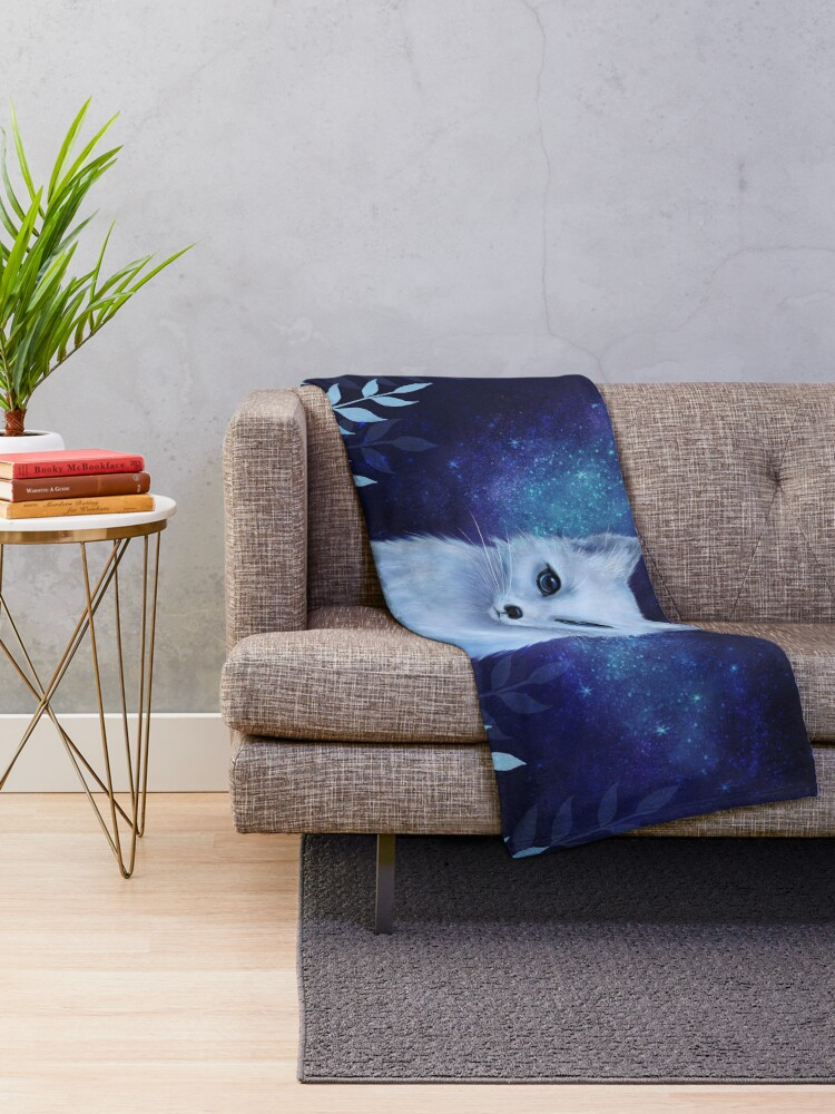 Alternate view of Winter fox Throw Blanket
