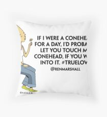 Conehead Love Throw Pillow