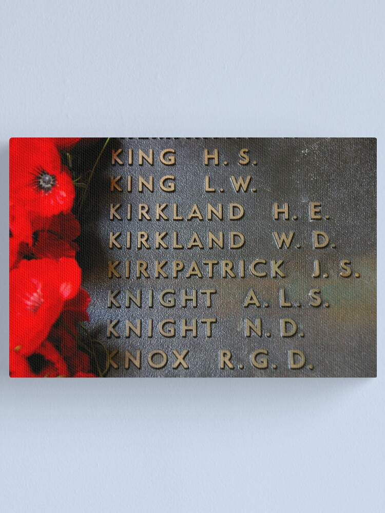 Alternate view of The Most Famous Anzac Of All Canvas Print